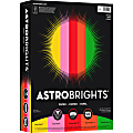 """Wausau Astrobrights® Bright Color Paper, Letter Size (8 1/2"""" x 11""""), 24 Lb, Assorted Colors, Ream Of 500 Sheets"""