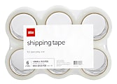 "Office Depot® Brand Shipping Tape, 1-15/16"" x 70-13/16 Yd, Clear, Pack Of 6 Rolls"