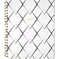 """Cambridge® Mackenzie Weekly/Monthly Planner, 8-1/2"""" x 11"""", Black/White, January To December 2022, 1574-905"""