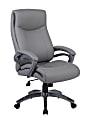 Boss Office Products Ergonomic High-Back Chair, Gray/Gun Metal