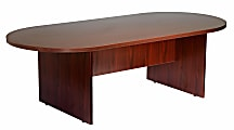 """Boss Office Products 71""""W Wood Race Track Conference Table, Mahogany"""