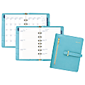 """AT-A-GLANCE® Faux Leather Fashion Starter Set, 5 1/2"""" x 8 1/2"""", Teal"""