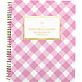 """AT-A-GLANCE® Simplified by Emily Ley Academic Weekly/Monthly Planner, 8-1/2"""" x 11"""", Pink Gingham, July 2021 To June 2022, EL62-905A"""