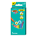 BIC® Kids Coloring Crayons, Assorted Colors, Pack Of 8 Crayons