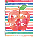 """Teacher Created Resources 40-Week Watercolor Lesson Plan/Record Book, 8-1/2"""" x 11"""", Multicolor"""