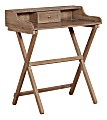 Linon Home Décor Products Gage Folding Home Office Desk, Rustic Brown