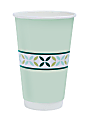 Highmark® Insulated Hot Coffee Cups, 16 Oz, 40% Recycled, Mint Green, Pack Of 50