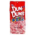 Dum Dums Bubble Gum Lollipops, Party Light Pink Color, 12.8 Oz, Bag Of 75, Pack Of 2 Bags
