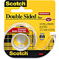 """Scotch® Double-Sided Tape With Handheld Dispenser, 1/2"""" x 248"""", Clear"""