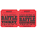 Amscan Raffle Ticket Roll, Red, Roll Of 1,000 Tickets