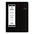 """Blue Sky™ Aligned Daily Planner, 8-1/2"""" x 11"""", Black, January To December 2021, 123844"""