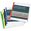 Office Depot® Brand Sliding Bar Report Covers, Clear/Assorted, Pack Of 6