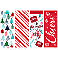 "Amscan Christmas Bottle Bags, 14""H x 5""W x 5""D, Jolly Season, Pack Of 16 Bags"