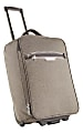 """Rolling Carry-On Luggage, 19""""H x 13 1/2""""W x 8""""D, Gray"""