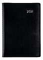 """Office Depot® Brand Daily Planner, 5"""" x 8"""", Black, January To December 2021, OD000100"""