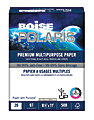 "Boise® POLARIS® Premium Multi-Use Paper, Letter Size (8 1/2"" x 11""), 20 Lb, FSC® Certified, White, Ream Of 500 Sheets"