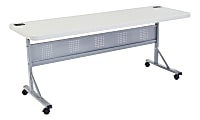 """National Public Seating Flip-N-Store Table, 29-1/2""""H x 24""""W x 72""""D, Speckled Gray"""