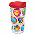 Tervis Hearts Tumbler With Lid, Multicolor, 16 Oz