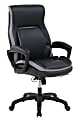 Shaquille O'Neal™ Amphion Ergonomic Bonded Leather High-Back Executive Chair, Black