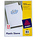 "Avery® Heavy Duty Plastic Sleeves - Letter - 8 1/2"" x 11"" Sheet Size - 100 Sheet Capacity - Polypropylene - Clear, Pack Of 12"