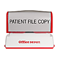 "Custom Office Depot® Brand Pre-Inked Stamp, 5/16"" x 2-1/2"" Impression"