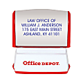 "Custom Office Depot® Brand Pre-Inked Stamp, 9/16"" x 1-1/2"" Impression"