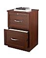 "Realspace® Premium 17""D Vertical 2-Drawer File Cabinet, Brick Cherry"