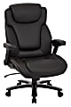 Office Star™ Pro-Line II™ Big And Tall Bonded Leather High-Back Chair With Arms, Black