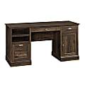 Sauder® Barrister Lane Executive Desk, Iron Oak
