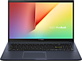 """ASUS® VivoBook 15 F513 Thin & Light Laptop, 15.6"""" FHD Display, Intel® Core™ i3, 8GB Memory, 256GB Solid State Drive, Windows 10 in S Mode, Bespoke Black, F513EA-OS36"""