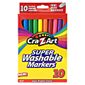 Cra-Z-Art Super Washable Markers, Fine Tip, Assorted Barrel, Assorted Ink, Pack Of 10 Markers