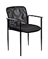 Boss Office Products Mesh-Back Stackable Chair, Black