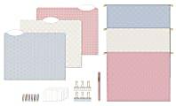 U Brands Delicate Details Filing Kit, Pastel/Gold, Set Of 145 Pieces