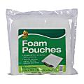 "Duck Brand Foam Pouches - 12"" Width x 12"" Length - 8 Wrap(s) - Non-abrasive - Foam - Clear"