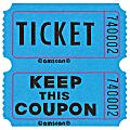"Amscan Double Ticket Roll, 6-1/2""H x 6-1/2""W x 2""D, Blue, 2,000 Tickets Per Roll"