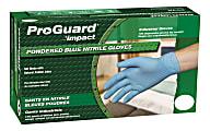 ProGuard General-purpose Disposable Nitrile Gloves, Medium, Blue, Box Of 100