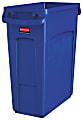 Rubbermaid® Slim Jim Rectangular Polyethylene Vented Waste Receptacle, 16 Gallons, Blue