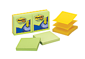 """Post-it® Notes Pop-Up Notes, 3"""" x 3"""", Assorted Colors, Pack Of 6 Pads"""