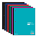 "Office Depot® Brand Wireless Notebook, 9"" x 11"", 1 Subject, College Ruled, 80 Sheets, Assorted Colors"