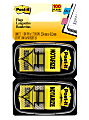 """Post-it® Printed Flags, """"Notarize"""", 1"""" x 1 -11/16"""", Yellow, 50 Flags Per Pad, Pack Of 2 Pads"""