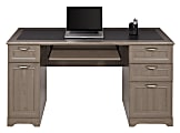 """Realspace® Magellan 59""""W Managers Desk, Gray"""