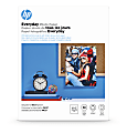 """HP Everyday Photo Paper for Inkjet Printers, Glossy, Letter Size (8 1/2"""" x 11""""), 53 Lb, Pack Of 50 Sheets (Q8723A)"""