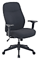 Serta® Commercial Motif Fabric Mid-Back Desk Chair, Black