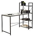 "Realspace® 56""W Trazer Computer Desk With Storage Shelves, Gray"