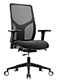 WorkPro® 4000 Series Multifunction Ergonomic Mesh/Fabric High-Back Executive Chair, Black/Black