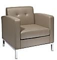 Office Star™ Avenue Six Wall Street Dual Arms Chair, Smoke/Chrome
