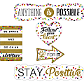 Teacher Created Resources Confetti Positive Accents - Residue-free, Write on/Wipe off - Multicolor - 1 Pack