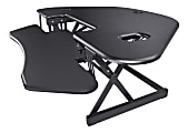 "Lorell™ Corner Desk Riser, 45-13/16"" x 23-1/4"", Black"