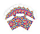 "Barker Creek Peel & Stick Library Pockets, 3"" x 5"", Tie Dye, Pack Of 60 Pockets"