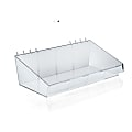 Azar Displays Large Divider Bins, Small Size, Clear, Pack Of 4